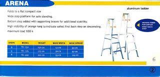 Sale Tangga Aluminium Fortuna Arena Ta 05 1 5 Meter harga termurah price list bahan material mandor