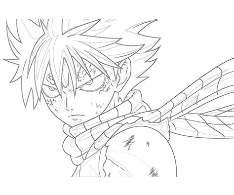 free coloring pages of how to draw natsu