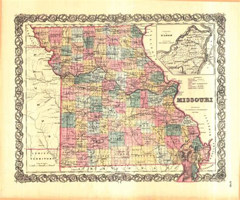 Personal Property Records Missouri County Map Mo