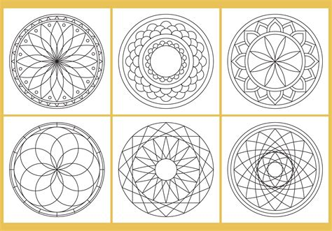 mandala coloring pages vector coloring mandala page vectors free vector
