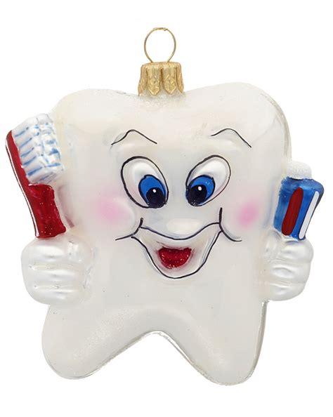 happy tooth christmas ornament polish glass