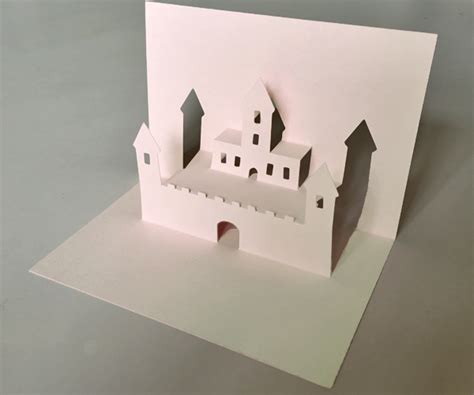 pop out card template castle pop up card template easy diy paper craft project
