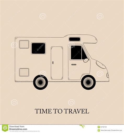 travel time stock vector illustration of home auto