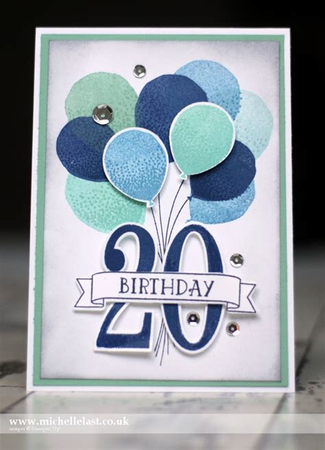How Many Sts For A Birthday Card Birthday Card Made Using Balloon Celebration Number Of