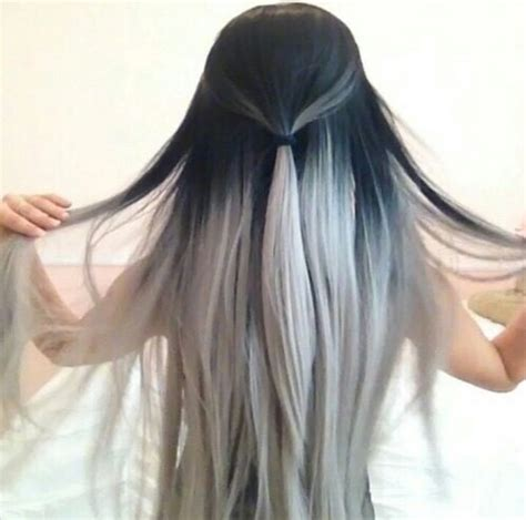 ambry on black hair black hair ombre white image 2774887 by lauralai on