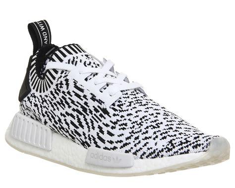 Adidas Nmd R1 Primeknite Black For adidas nmd r1 prime knit white black print his trainers
