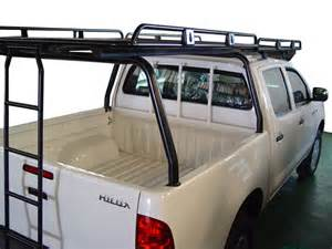 afn roof rack for bed section with ladder for hilux 4x4