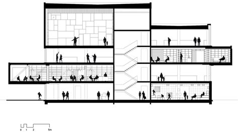 library sections the library by cobe and transform architecture drawings