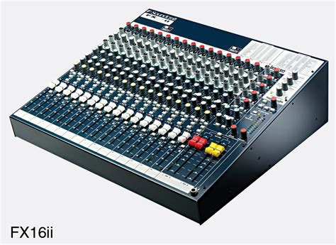 Mixer Soundcraft Fx16ii soundcraft fx16ii mixer 16 microphone line inputs 4 groups digital effects