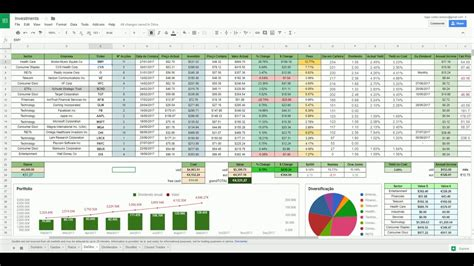 Dividend Tracker Spreadsheet by 100 Dividend Stock Portfolio Spreadsheet On The