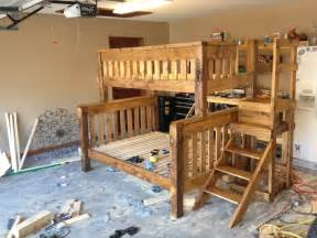 Plans For Building A Twin Over Full Bunk Bed by Wooden Bunk Bed Building Plans Twin Over Full Plans Pdf Download Free Diy John Deere Bunk Bed