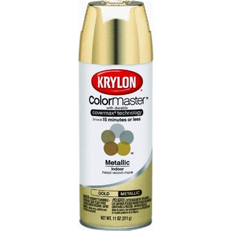 krylon colormaster metallic spray paint ebay