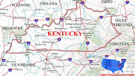 pin kentucky maps on