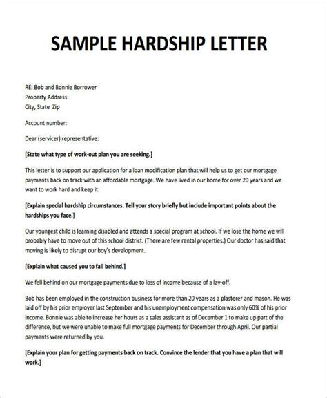 Hardship Letter Template For Creditors hardship letter for loan modification sle fitted