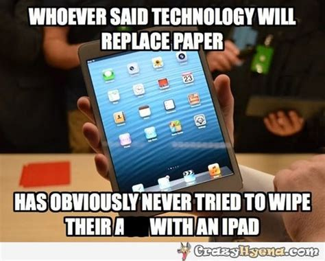 Ipad Meme - technology replacing paper