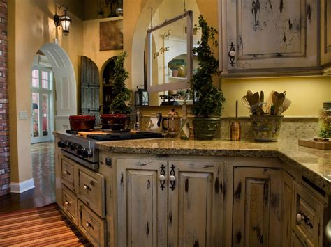 Distressed Wood Kitchen Cabinets by Applying The Distressed Kitchen Cabinets For The New Decor