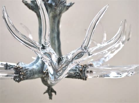 Glass Antler Chandelier Large Antler Chandelier Modern Chandeliers By Lawson Glass
