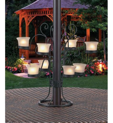 Patio Umbrella Votive Holder Patio Umbrella Eight Votive Candle Holder In Patio Furniture