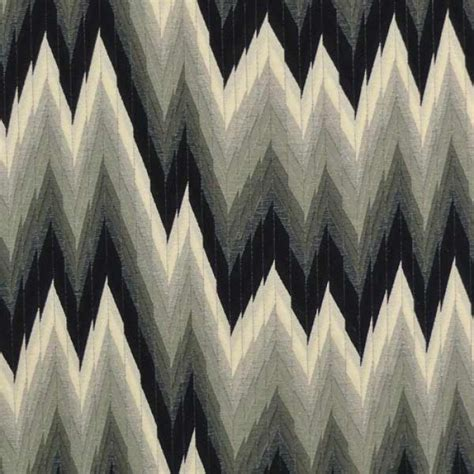 flamestitch upholstery fabric flame stitch charcoal