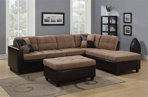 Mallory Beige Leather Sectional Sofa Steal A Sofa Pictures Of Sectional Sofas