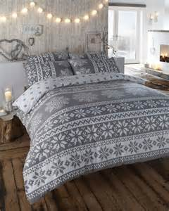 Snowflake Comforter Brand New Warm Amp Soft Brushed Cotton Cosy Flannelette