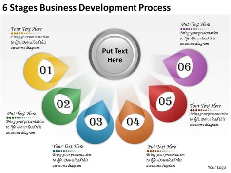 business development presentation template 2613 business ppt diagram 6 stages business development