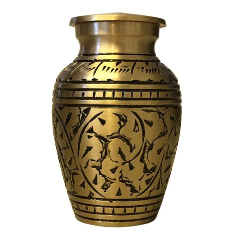 Home Decor Stores Brampton gold leaves small keepsake urn mini cremation urns for ashes
