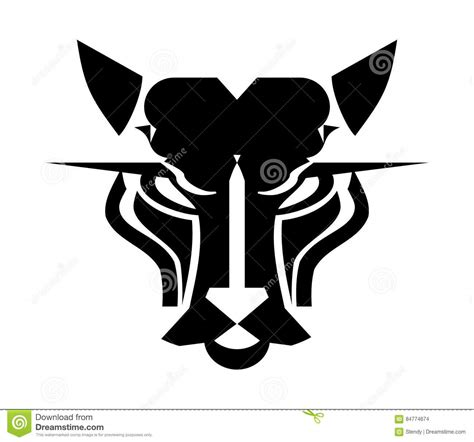 Headl Icon Black cat logo panther icon stock vector image