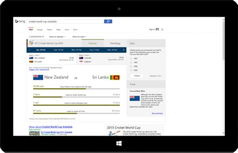 bing search worldwide bing takes on the world s second most watched sport as