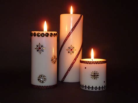 candele decorate 3 decorative pillar candles design ideas home decorating