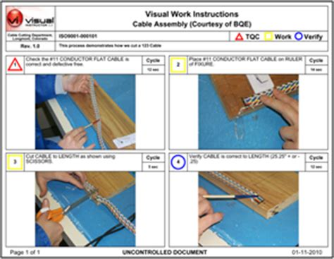 visual work template iso standard work exle pictures to pin on