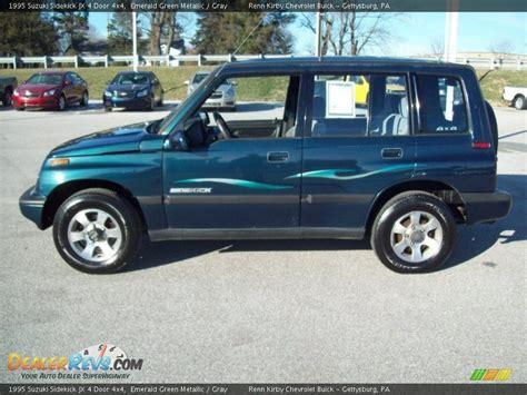 4 Door Suzuki by 1995 Suzuki Sidekick Jx 4 Door 4x4 Emerald Green Metallic