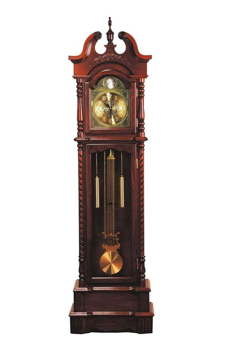 dark walnut grandfather clock   features