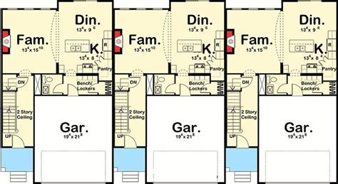 Easy To Build 3 Unit House Plan   62523DJ   2nd Floor