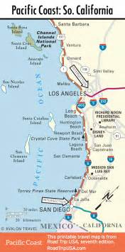 california coast drive map pacific coast highway road trip usa