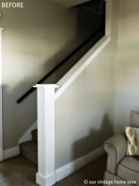 stairs w half wall stairs - Half Wall Staircase