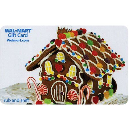 gingerbread house gift card (scratch and sniff) walmart.com