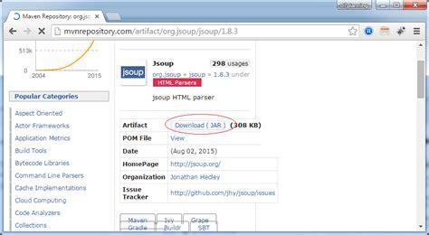 pattern java import jsoup java html parser tutorial
