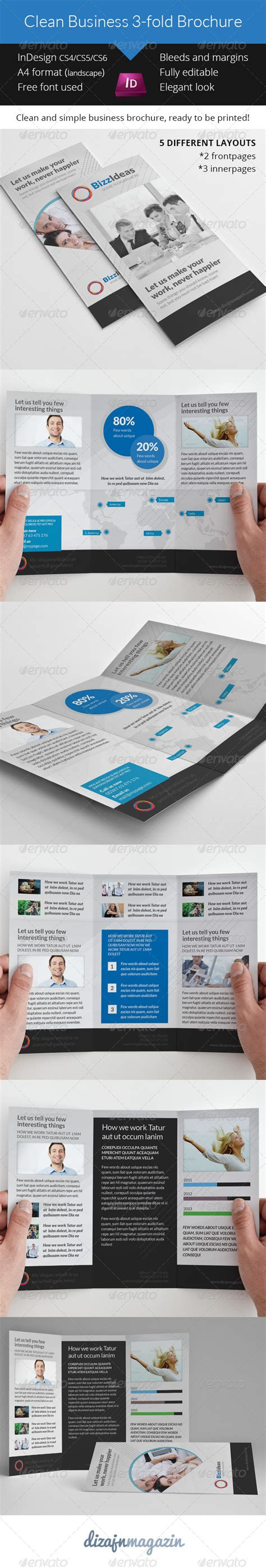 3 fold brochure template indesign clean business 3 fold brochures indesign template