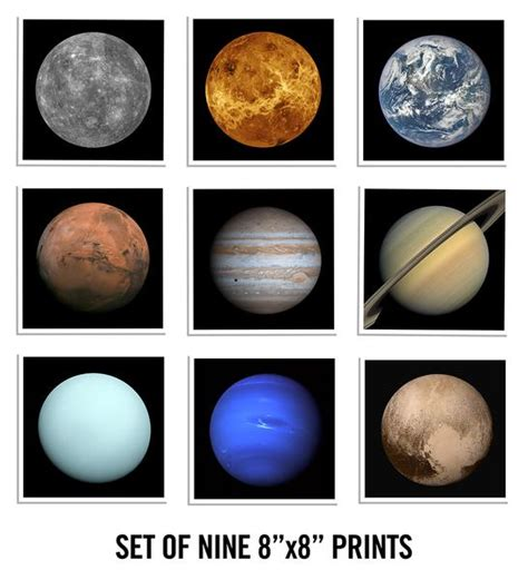 printable poster of the planets new collect the cosmos with our planet prints 20x200