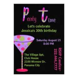 colorful fun birthday party invitation zazzle