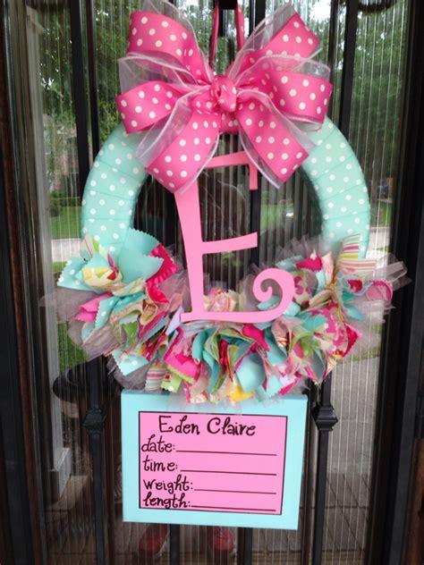 When Can A Baby Go In A Door Bouncer by Baby Ribbon Wreath Nursery Hospital Door Kumari Garden W