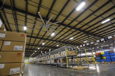 how to cool a warehouse with fans warehouse ceiling fans from big fans can save you up
