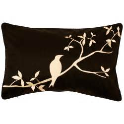 nottingham black ivory bird decorative pillow free