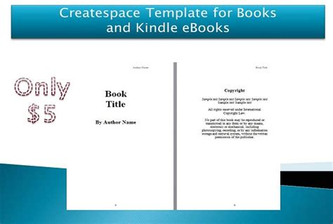 Make Createspace Template For Book And Kindle Ebook Fiverr Picture Book Template For Createspace