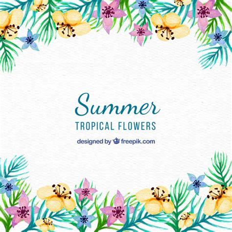 imagenes vintage verano bonito fondo vintage de flores de acuarela para verano
