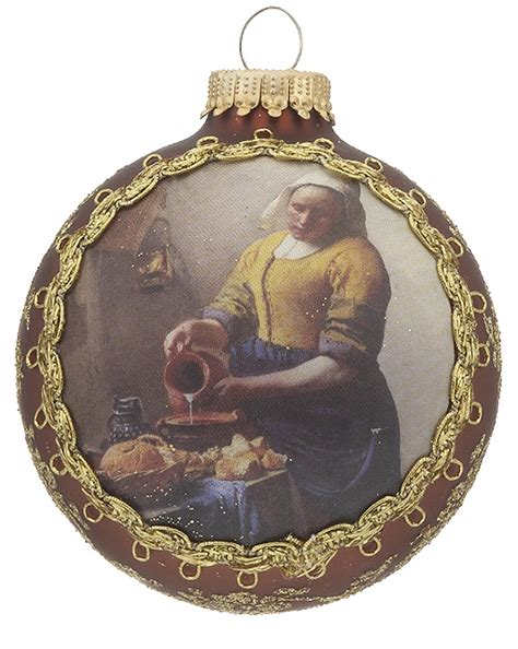 2016 masters on silk the milkmaid christmas ornament