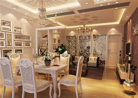 deluxe dining room neo classical 3d house