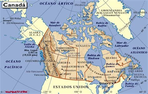 map de canada mapa de canada map