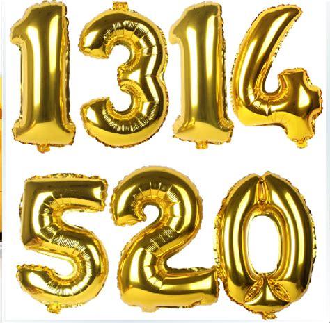 Number Balloon jumbo gold number balloons 1 metre floral garage
